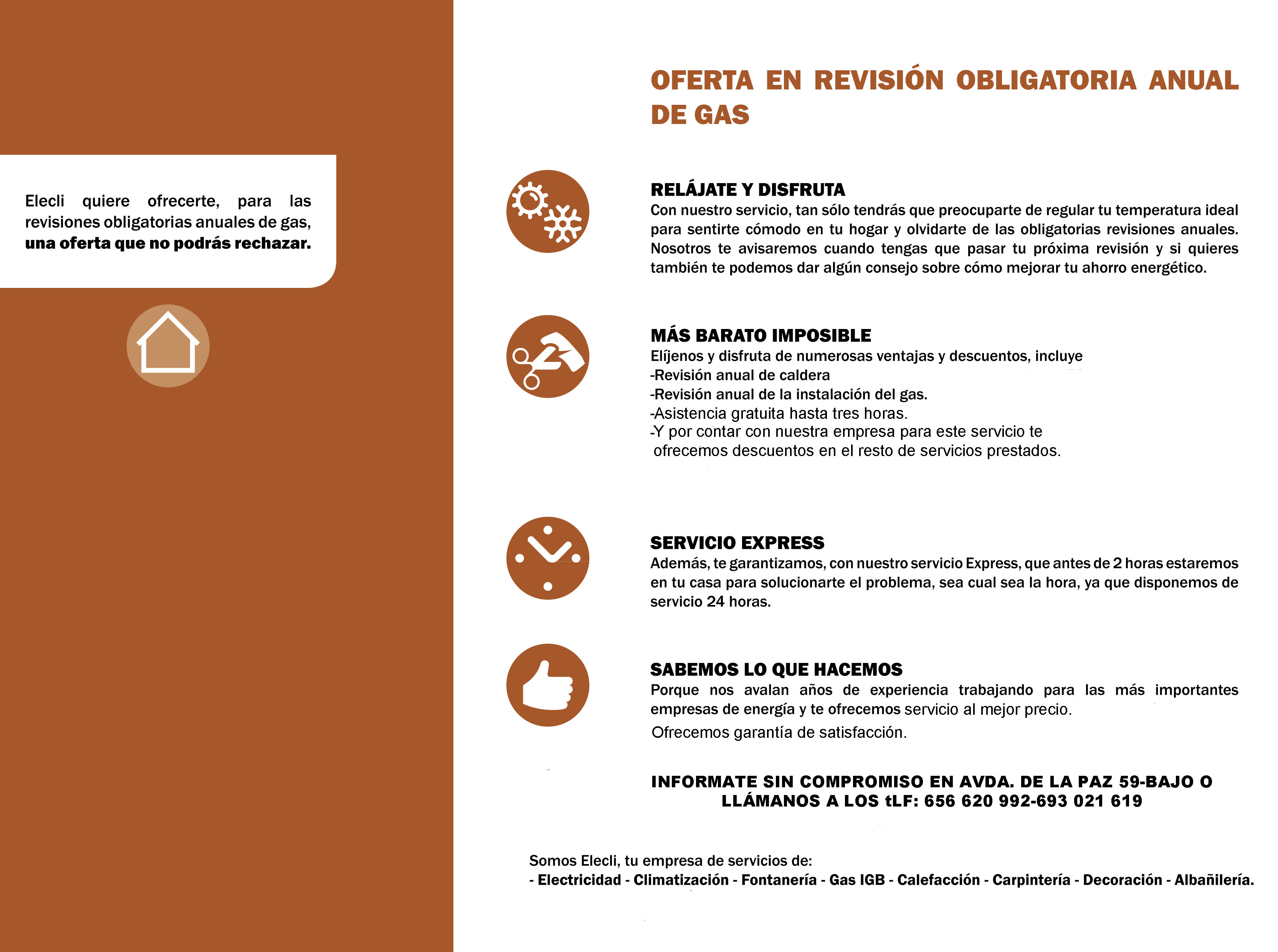 REVISIONES ANUALES CALDERAS DE GAS